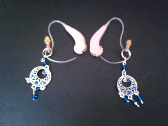 My Hearing Aids (with their bling)