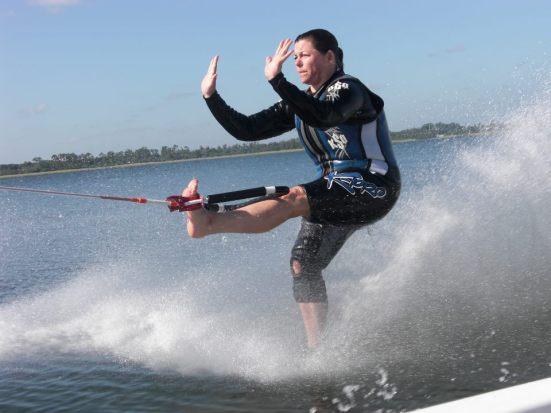 Guest Blogger Karen Putz, a.k.a. Deaf Mom, is a prolific barefoot water skier as well as writer for the deaf and hearing loss community.