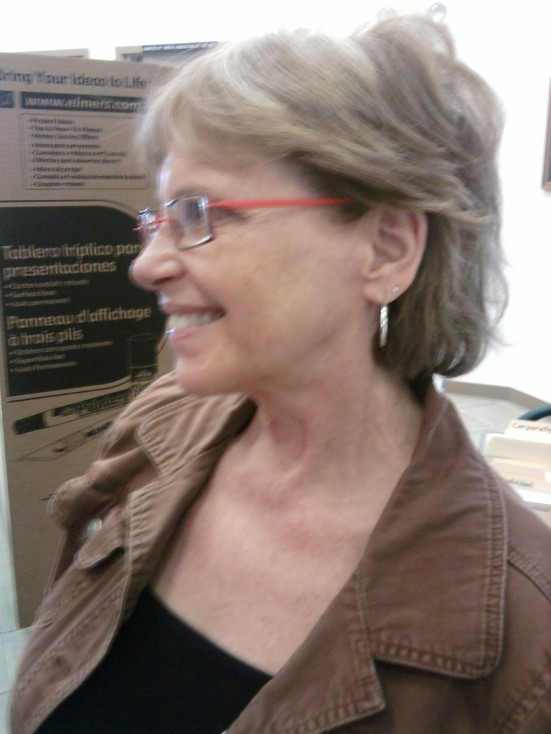 Deaf Cultural Center Director Sandra Kelly poses for Show Me Your Ears!