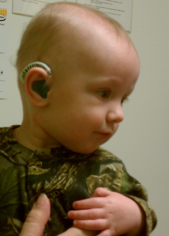 Christmas is a magical time for children, especially when they can hear all the glorious holiday sounds. Little Gavin celebrates one year with his hearing aids soon.