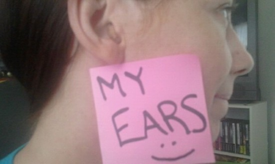 "Rachel, who is 32, lost 70% hearing in both ears and has worn Audina hearing aids for a month. She writes, ""Thank you for steering me in the direction of @LipreadingMom. I've been alone in my struggle. It's nice too see there's a network."""