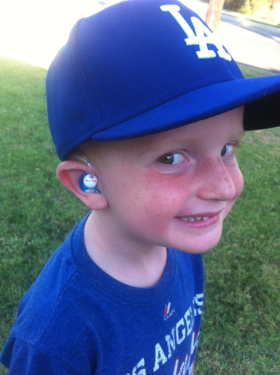 """Take Me Out to the Ballgame...Where I Can Show You My Ears!"" - Connor, age 4"