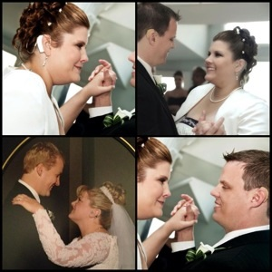 Here come the brides, ‪Show Me Your Ears style!! Blushing brides Tina Hamblin (top pics and bottom right) and Janel Newman (bottom left pic) are just gorgeous on their wedding days, don't you agree?