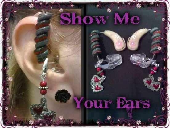 Check out Wanda Brownwell's ear bling. Lipreading Mom thinks it rocks!