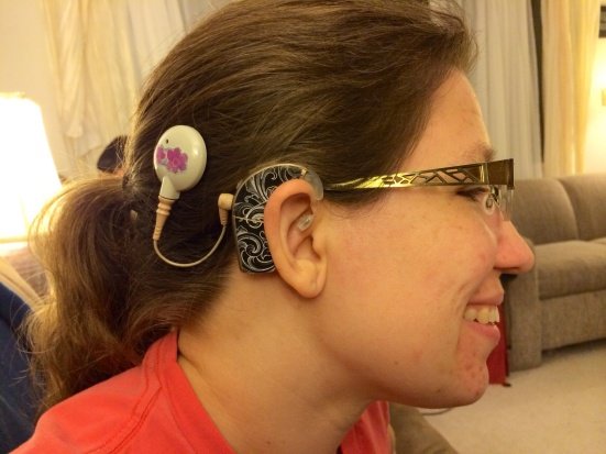 Mindy Richmond wanted to be sure and share with Lipreading Mom her new cochlear implant that was activated this summer. Congrats, Mindy!