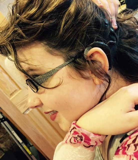 Nicole Fonner tweeted this photo of her cochlear implant via Twitter. You can, too! Just type in #ShowMeYourEars and @LipreadingMom when posting your photo on Twitter. Easy, huh?