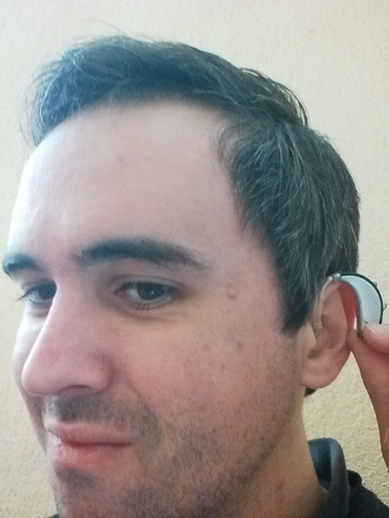 Dimitar wears Phonak Savia Art hearing aids. Thanks for showing off your 'ear,' Dimitar!