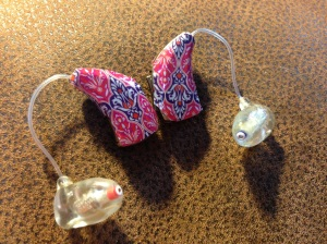 Sarah Lundquist likes  to add color and style to her hearing aids.