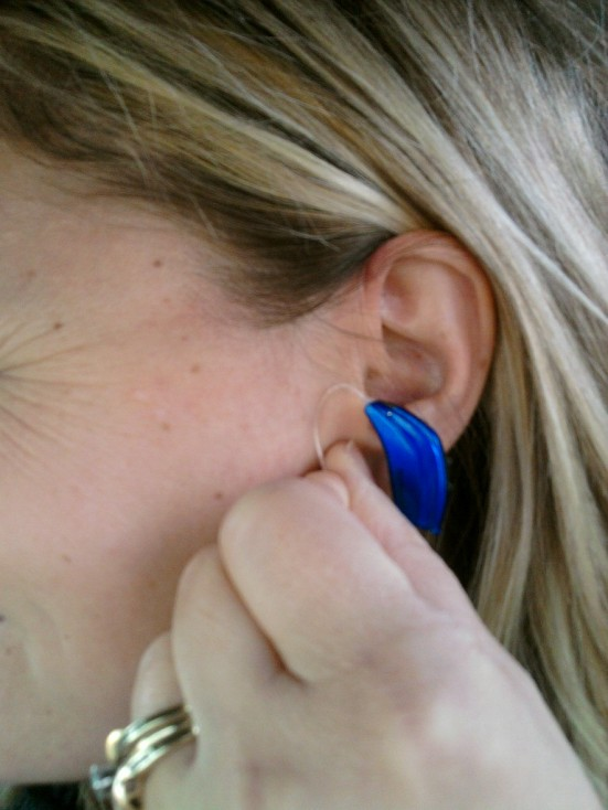 Blue is my favorite holiday color, so of course it was my choice when selecting my new Verso hearing aids from ReSound.