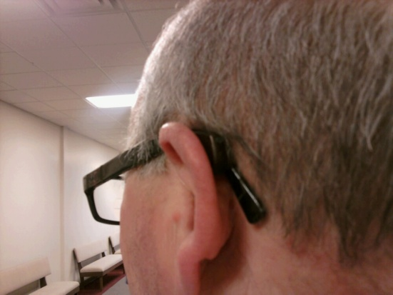 "This nice man came up to me at church on Sunday and said, ""I like Show Me Your Ears. Wanna see mine?"" He pulled out his hearing aids for all to see... Merry Christmas!"