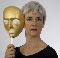 Guest Blogger Gael Hannan is famous speaker, writer, and performer who poignantly unveils her 'hearing loss mask' for audiences worldwide.