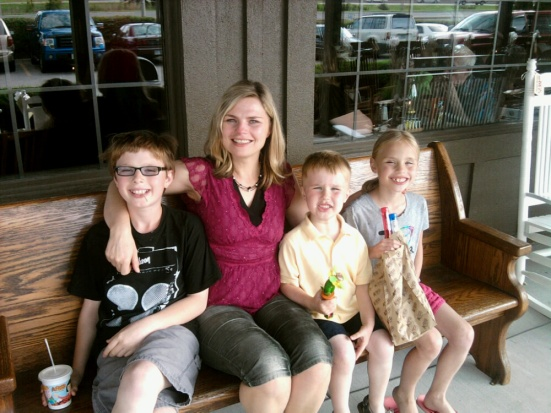 Mother's Day 2012...I'm surrounded by my three gifts.