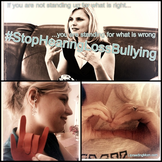 Help Lipreading Mom #StopHearingLossBullying
