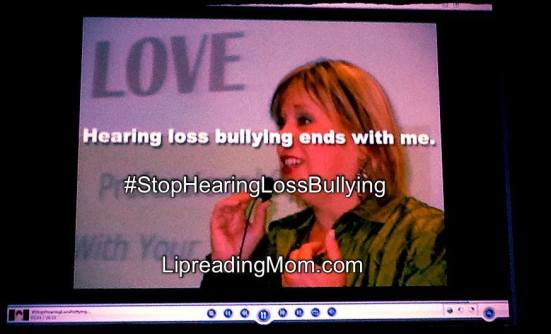A sneak peek at the Stop Hearing Loss Bullying Campaign Video - Premiering May 24th