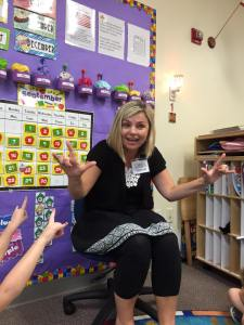 Lipreading Mom in the classroom